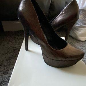 Jessica simpson herringbone platform heels 9